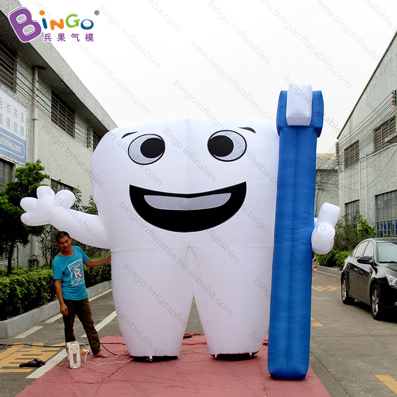 Search For Flights Personalized 3 Meters Giant Inflatable Tooth / 10 Feet Inflatable Tooth Balloon / Advertising Inflatable Teeth Model Toys