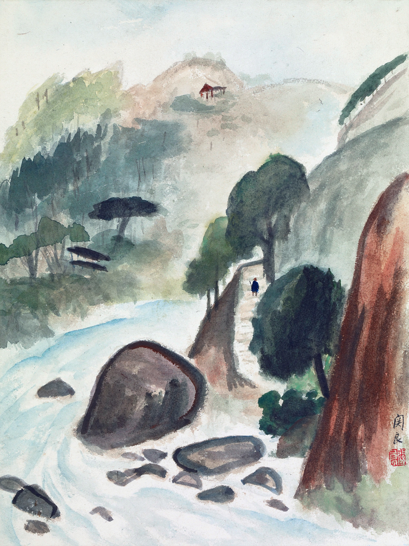 landscape picture modern Chinese painting scenery poster prints on canvas home decoration art scenery River in the mountain