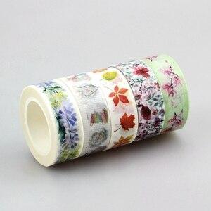 Image 3 - Nouveau 50 pièces Kawaii coloré 596 motifs japonais Washi ruban papier, bricolage ruban de masquage pour Scrapbooking, 15mm * 10 m, mignon papeterie