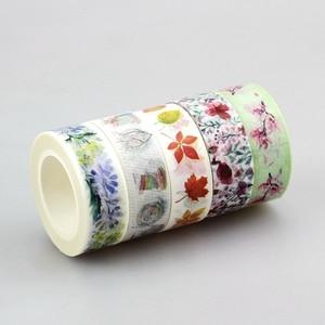Image 3 - Nuovo 50pcs Kawaii Colorful 596 Modelli Giapponese Washi Tape nastro di Carta, FAI DA TE Nastro Adesivo per Scrapbooking, 15mm * 10 m, Carino Cancelleria