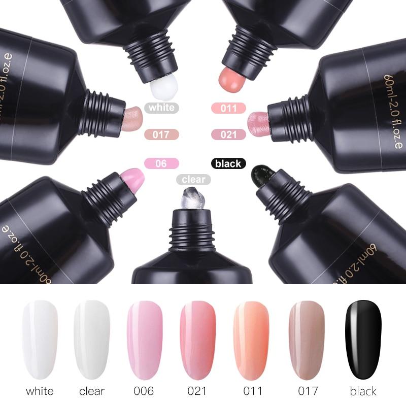 Mshare 60ml Poly Gel Polygel Nails Acrylgel Acrylic Pink White Clear Crystal Acryl Uv Builder
