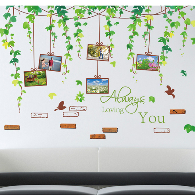 Hot Design Summer Vine Family Photo Frame Wall Sticker Home Poster Decor  Baby Room Stickers Part 63