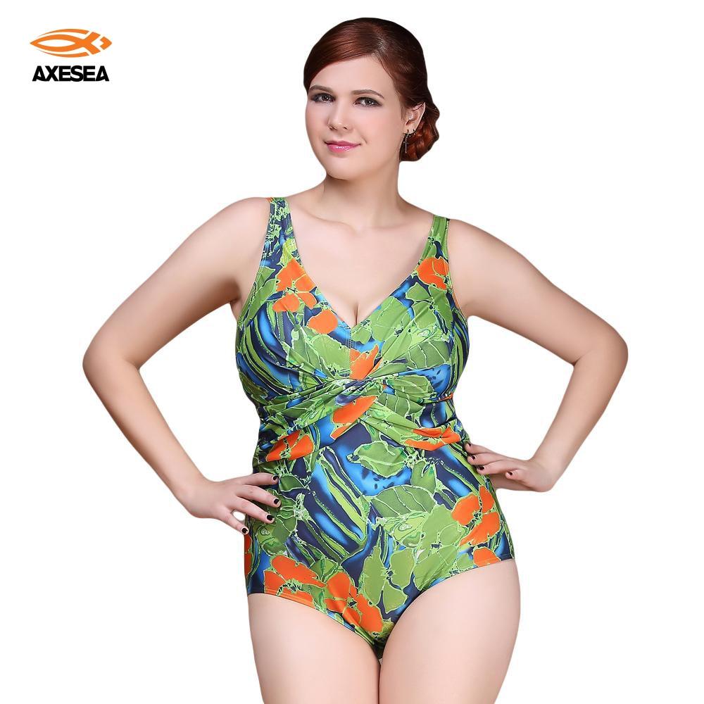 ФОТО Sexy One Piece Swimsuit 2016 Vintage Plus Size Swimwear Women Ruffle Floral Print Beach Bodysuit Look Slim Halter Bathing Suit