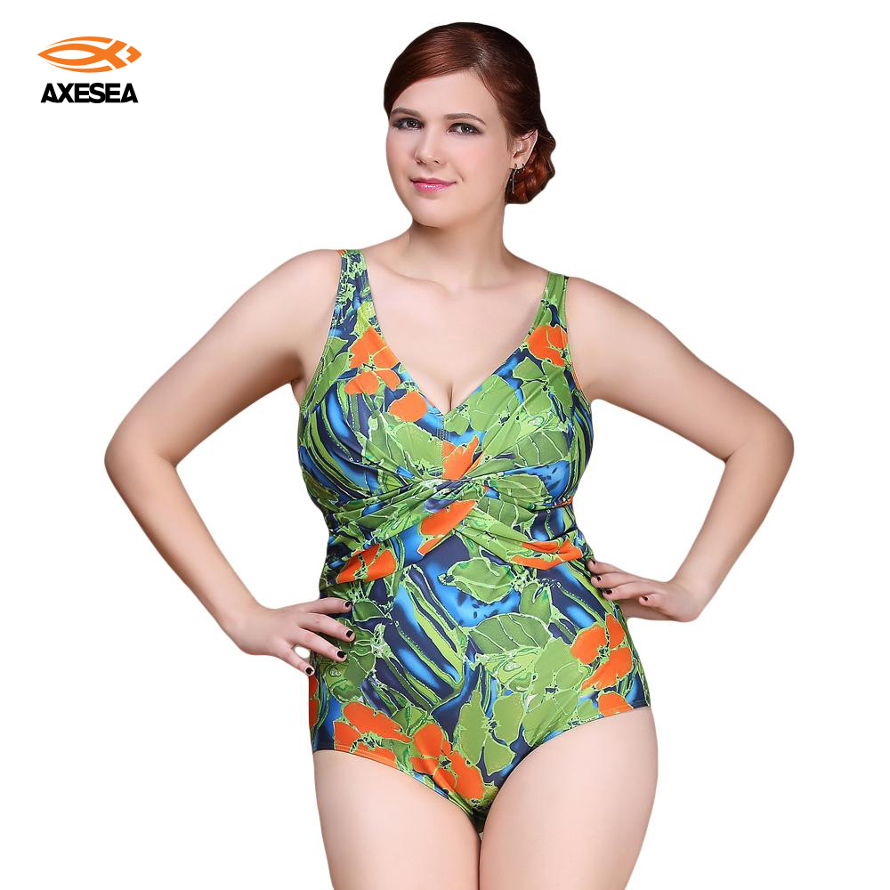 Sexy One Piece Swimsuit 2017 Vintage Plus Size Swimwear Women Ruffle Floral Print Beach Bodysuit Look Slim Halter Bathing Suit women one piece triangle swimsuit cover up sexy v neck strappy swimwear dot dress pleated skirt large size bathing suit 2017