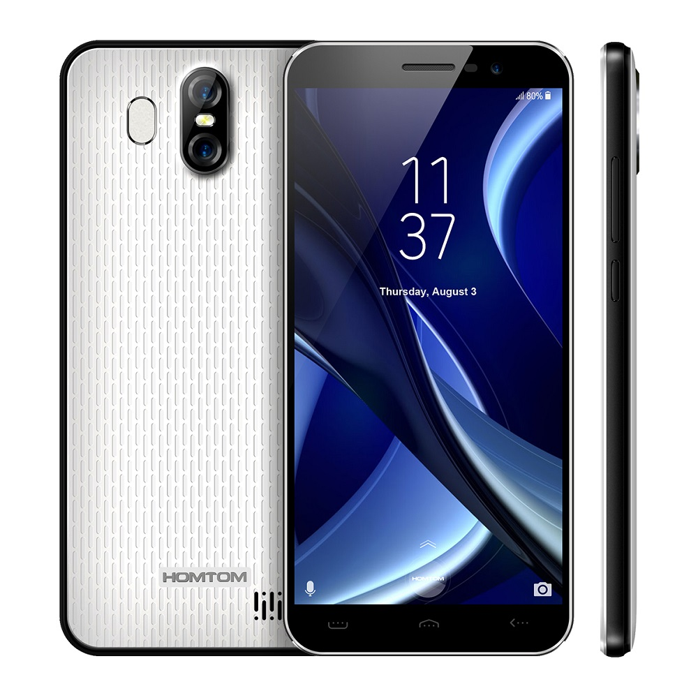 HOMTOM S16 3G teléfono inteligente Original Android 7,0 MTK6580 Quad-Core 1,3 GHz 2 GB RAM 16 GB ROM 8.0MP frente Cámara 13.0MP
