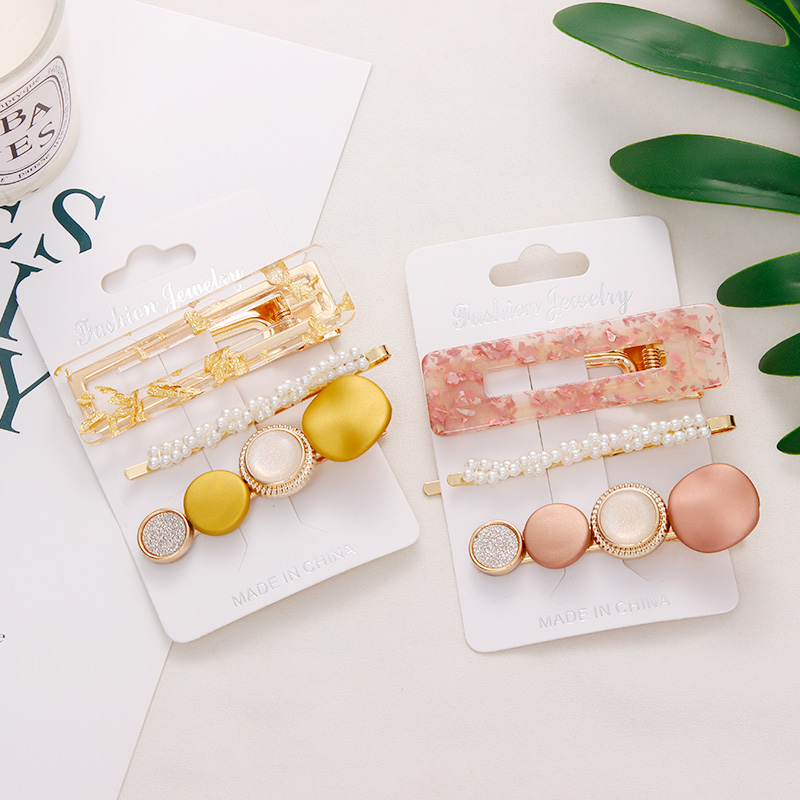 New-3PCS-Set-Fashion-Pearls-Acetate-Geometric-Hair-Clips-For-Women-Girls-Headband-Sweet-Hairpins-Barrettes (4)