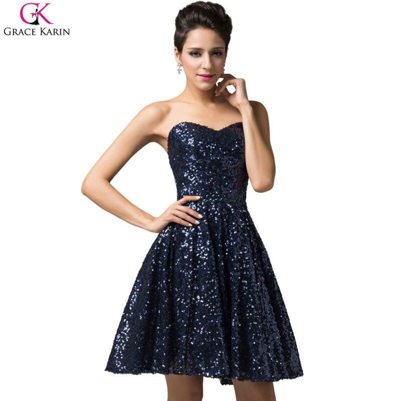 Popular Navy Blue Sparkly Short Dress-Buy Cheap Navy Blue Sparkly ...