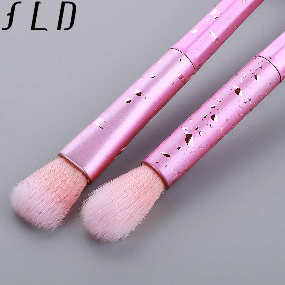 FLD Haute Qualité 7 pièces Pinceaux De Maquillage Professionnel Set Visage Poudre Fondation Sourcils Cils Correcteur Cosmétique Brosse
