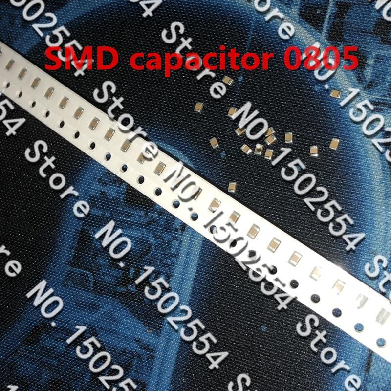 50 шт./лот керамический конденсатор SMD 0805 102 К 1NF 500 В X7R 10% Высокое напряжение керамический конденсатор