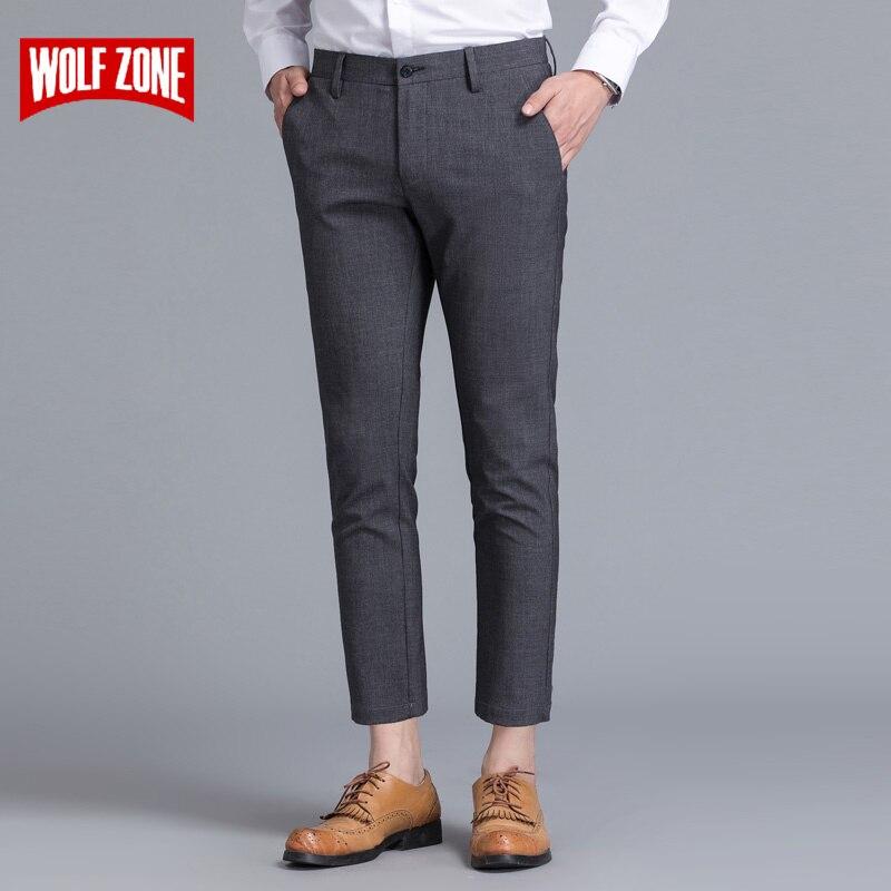 Limitée Marque Vêtements Hommes Casual Pantalon Printemps Été Mi Pleine Longueur Nouvelle Mode 2017 Homme Slim Droite Pantalon Plus Cheville