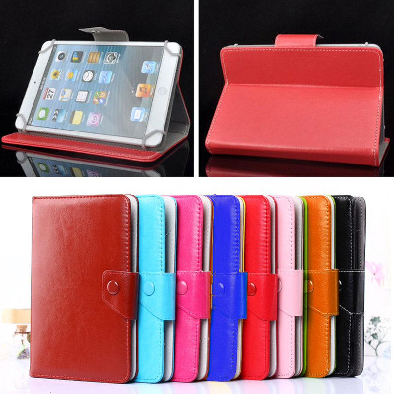 Fashion Stand Flip Cover For Alcatel One Touch T10/Pixi 7 cases Folio PU Leather Case for 7 inc Universal bags+Screen Protector