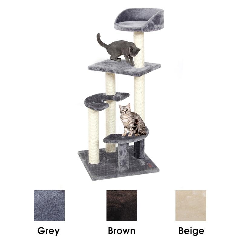 RU Consegna Domestico del Gatto Albero di Casa per il Gatto Gatto Albero Alto Cat Torre Letto Con Tiragraffi Giocattoli Gattino Mascotas