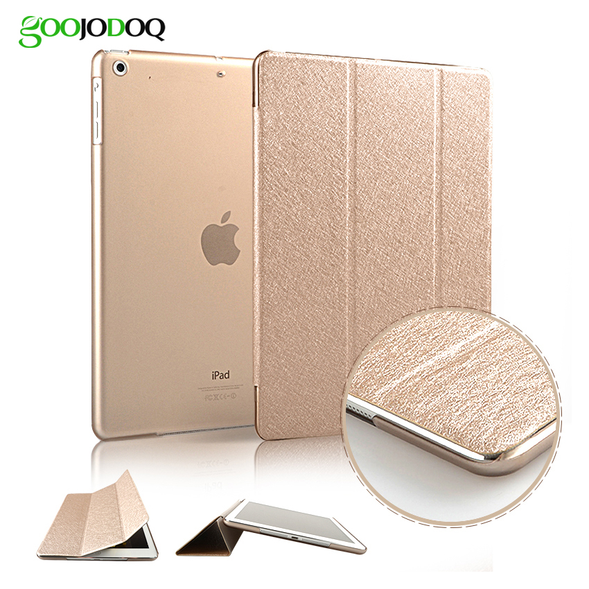 Case for iPad Air 2 / Air 1 / Mini 3 2 1,Slim Silk PU Leather+PC Hard Back Smart Cover Case Coque for iPad 5 6 Auto Sleep/Wake for ipad air 2 air 1 case slim pu leather silicone soft back smart cover sturdy stand auto sleep for apple ipad air 5 6 coque