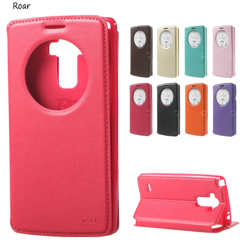 watch c751f ade69 US $6.99 |For ( LG G4 Stylus ) Case Roar Korea View Window Genuine Leather  Stand Flip Cover For Funda LG G4 Stylus Ls770 Phone Bags Cases-in Flip ...