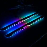 Qirun Acrylic LED moving door scuff door plate sill light for audi A3/S3 A4 A1 A5/S5/RS5 A6L C7 A7/S7/RS7 Q5 Q3 Q7 TT 8j A8