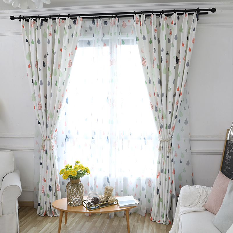 Huayin Velvet Linen Curtains Tulle Window Curtain For: Simple Contemporary Kdis Curtains For Bedroom Scandinavian