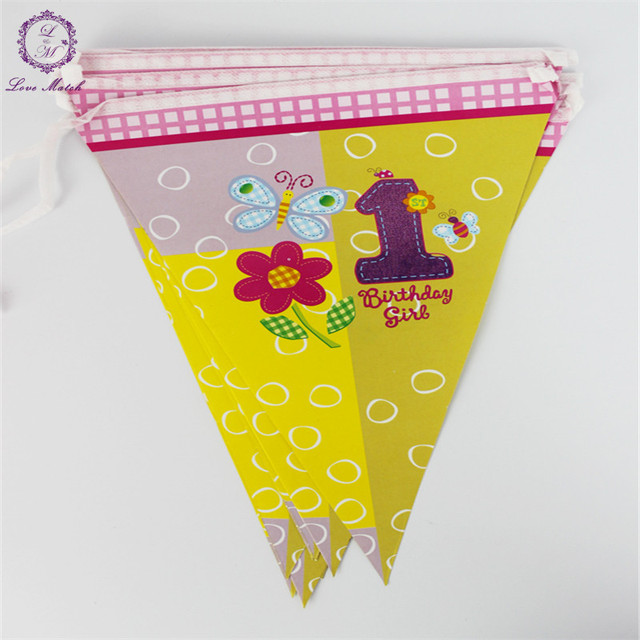 12 Flags 32m Pennant Flags Bunting Happy Birthday Flag Banner Party