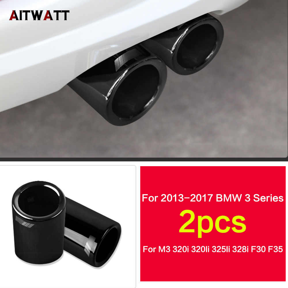 for bmw f30 320i 320 316i 328i 2013 2017 car stainless steel rear tail exhaust muffler tip end pipes silencer tail pipe aitwatt