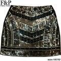 1920 s bordado hecho a mano bordado con cuentas de lentejuelas mini falda sexy celebrity brithday party falda broque vintage geométrico falda