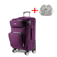 Letrend Women Rolling Luggage Set Spinner Wheel Suitcase Oxford Women's Bag Travel Bags 20 inch Student Cabin Trolley