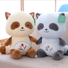 Lovely Cartoon Raccoon Doll Soft Plush Toys Stuffed Animal Plush Doll Toy Children Toys Kids Birthday Gift 25cm kawaii plush animal raccoon doll children creative soft down cotton pad plush toy children birthday gift