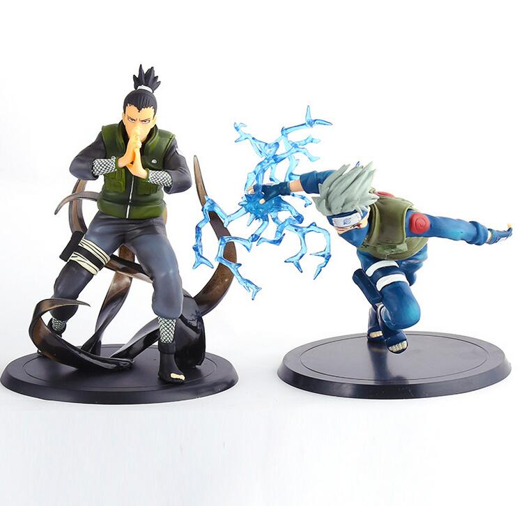16cm Naruto Hatake Kakashi Nara Shikamaru Anime Action Figure PVC New Collection figures toys brinquedos Collection 1