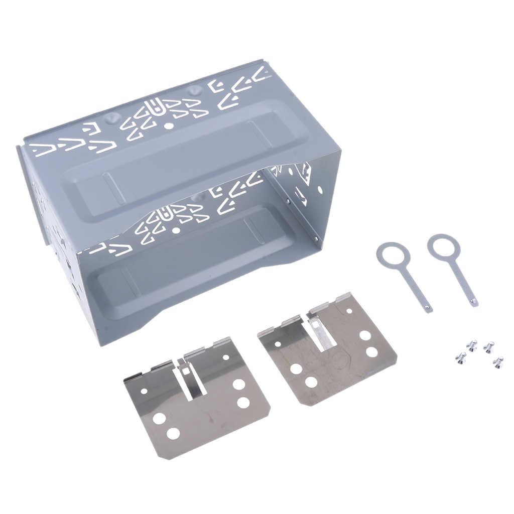 Coche Universal de Audio estéreo reposición ISO 2 Instalación DIN de jaula de Metal soporte de montaje de reproductor de DVD de placa de montaje