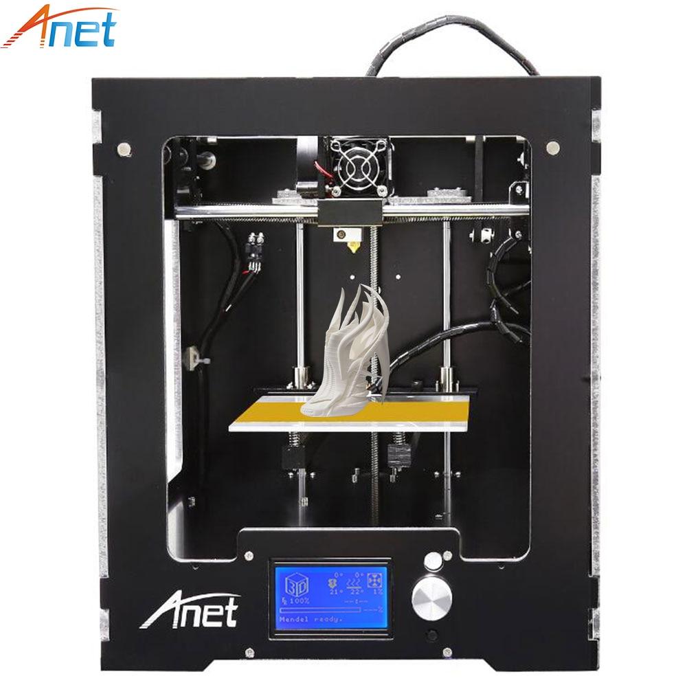 Anet A3 Full Assembled Desktop 3D Printer Big Printing Size Precision Reprap Prusa i3 3D Printer with Filaments+8G SD Card 2017 hot anet a3 full assembled desktop 3d printer precision reprap prusa i3 3d printer with 1roll filaments 16g sd card tool