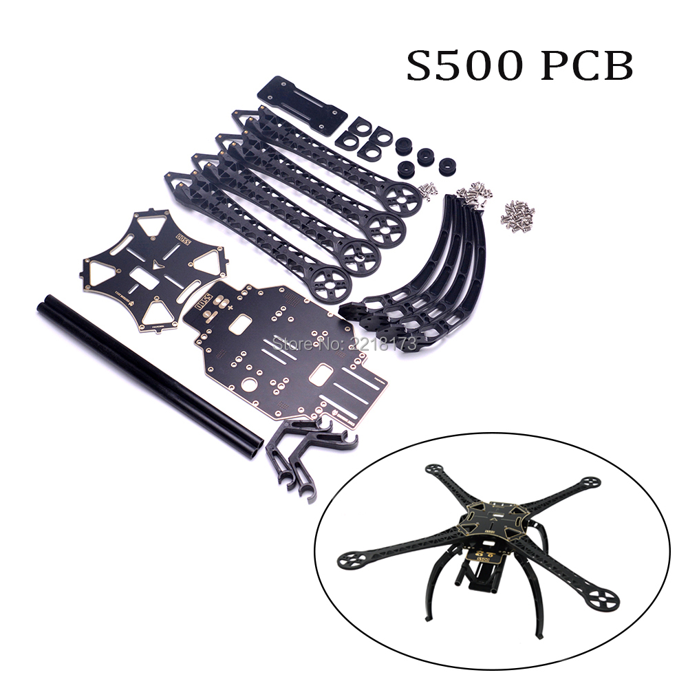 1 set S500 500mm PCB Board frame kit with plastic Landing Gear For FPV RC Quadcopter f04305 sim900 gprs gsm development board kit quad band module for diy rc quadcopter drone fpv