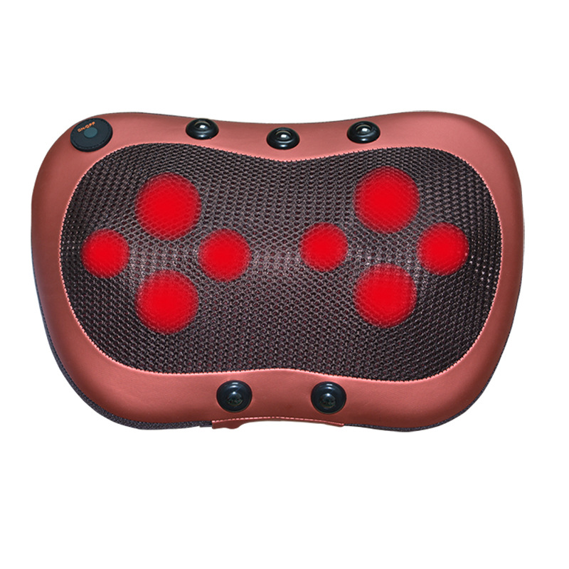 8 heads Magnetotherapy massage pillow cervical massage instrument car home infrared kneading massager electric back massager kneading back and buttock massage home