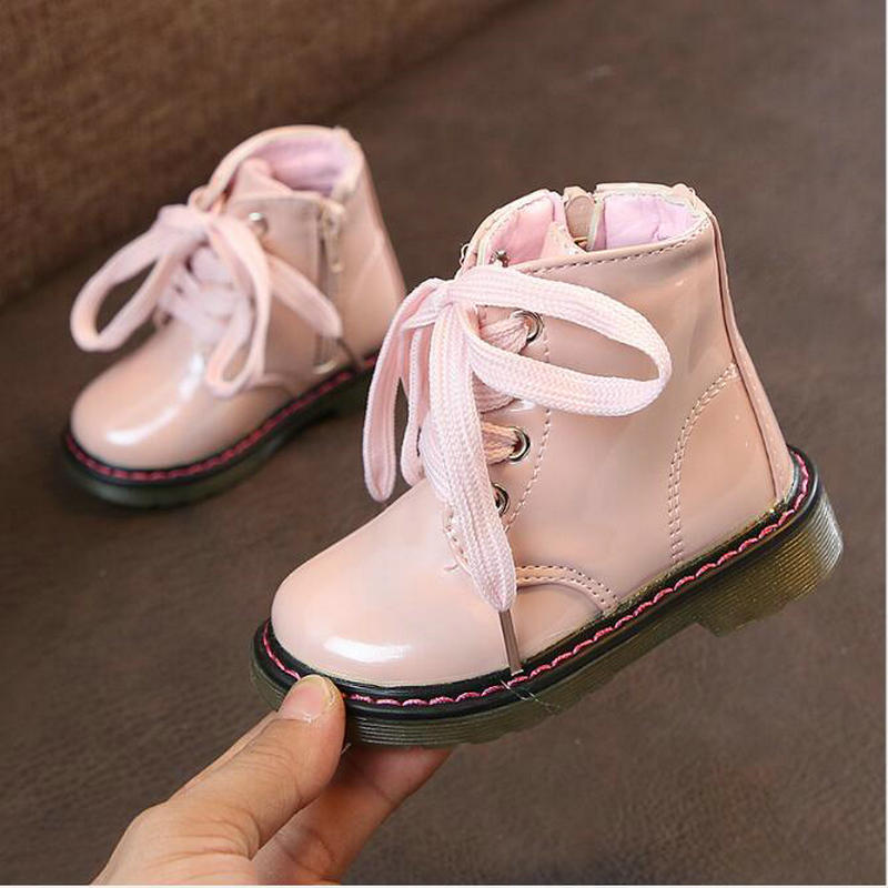 Autumn Winter Kids Martin Boots Lace New Fashion Brand Children PU Leather Shoes Princess Girls Zipper Soft Casual BootsAutumn Winter Kids Martin Boots Lace New Fashion Brand Children PU Leather Shoes Princess Girls Zipper Soft Casual Boots