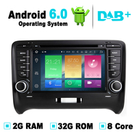 Android 6.0 Car GPS Navigation System DVD Player Auto Radio Audio Video Stereo Media For Audi TT Support OBD2 DAB+ DVR TPMS RDS