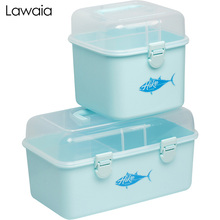 Lawaia Fishing Tackle Box Double-layer Gears Storage Multi-function Road Asia Accessories Gadget