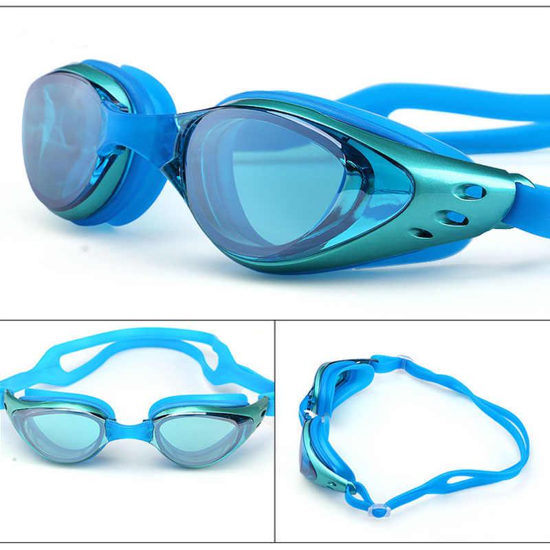 Zwembril Bijziendheid Mannen en vrouwen Anti-Fog professionele Waterdichte siliconen arena Zwembad swim eyewear Volwassen Zwemmen bril
