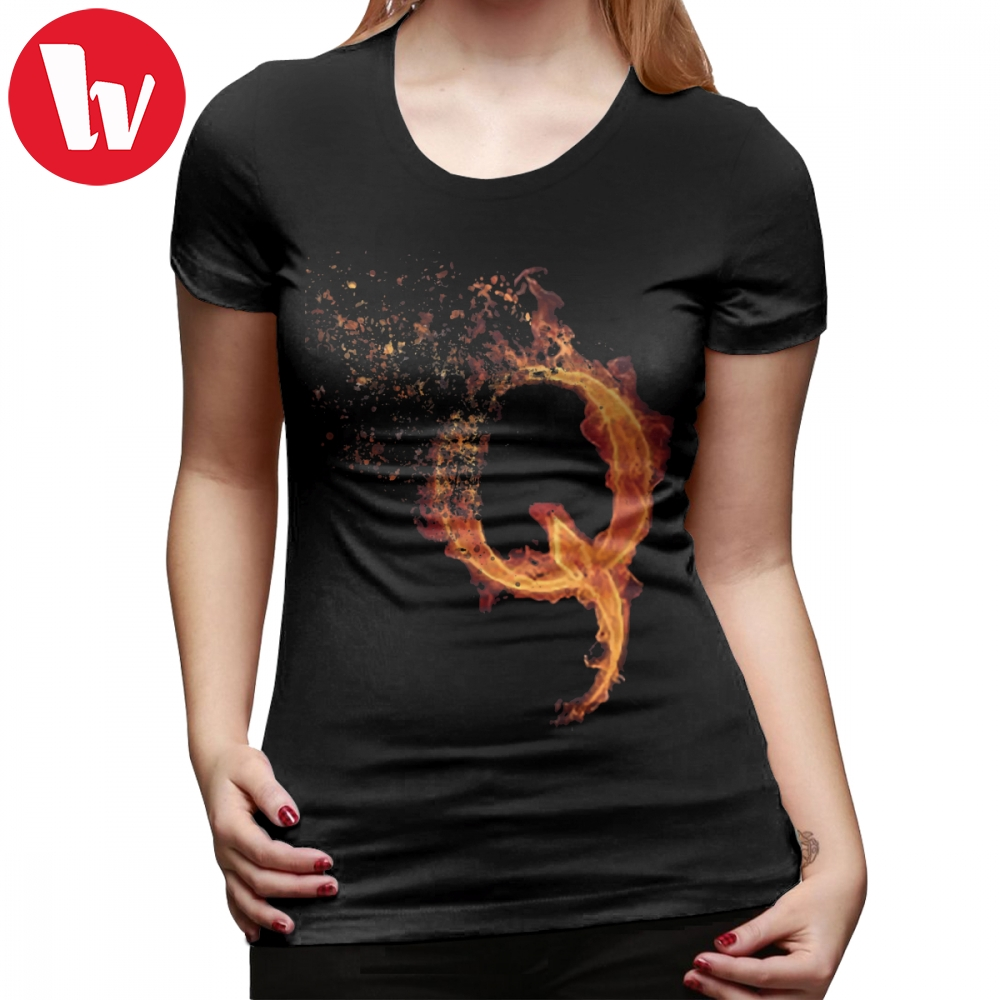 Glitch T-Shirt QAnon Fiery Q For Conspiracy Theorist By Scralandore Design T Shirt Cotton Trendy Women tshirt Ladies Tee Shirt image