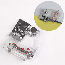 1Pc Adjustable Cloth Edge Presser Foot for Sewing Machine Transparent Scale  Household Accessories