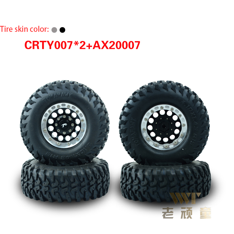 Model car 1/10 climbing tire loaded finished tire 1.9 inch hub CRTY007*2+AX20007 Tire diameter 96mm hub diameter 49mm width 37mm