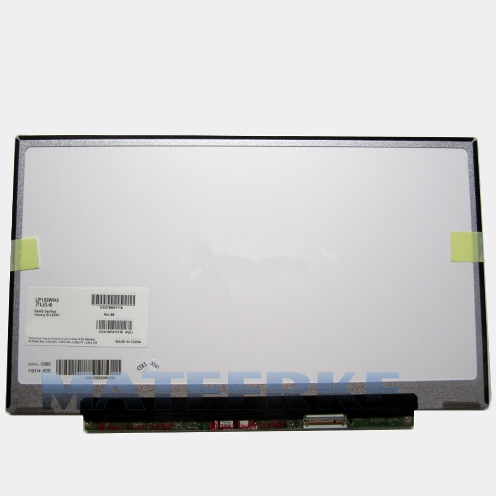 LP133WH2-TLL4 13.3 inch led panel replacement display for lenovo laptop lcd screen LP133WH2.TLL4 13 3 laptop replacement screen lp133wh2 tl m5 lcd display panel monitor lp133wh2 tlm5 04w1768 lvds 1366x768 free shipping