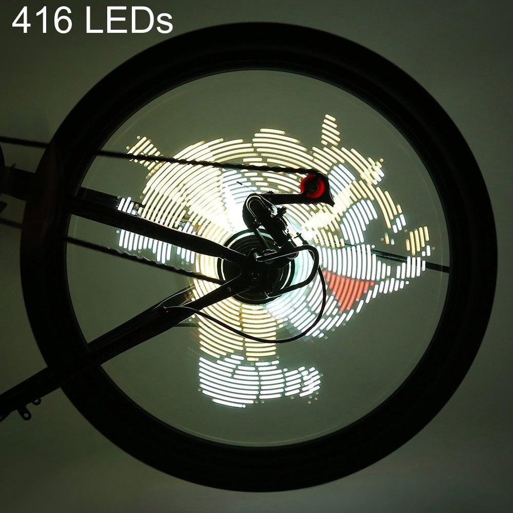 Cycle Zone Pro bricolage vélo lumière cyclisme 416/256 led étanche coloré changement vidéo photos vélo roue a parlé vélo lumière