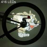 Zona de ciclo pro diy bicicleta luz ciclismo 416/256 leds à prova dwaterproof água colorido mudando imagens vídeo roda falou bicicleta luz