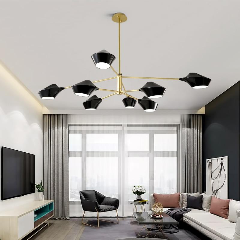 Postmodern acrylique abat-jour lustre de luxe conception pendentif lampe E27 ampoule lumière chambre lampe hôtel café restaurant lumières