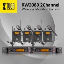 XTUGA RW2080 беспроводной мониторы системы этап UHF наушники вкладыши и 4 приемники Звук Наушники Профессиональные микрофоны