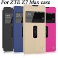 Para o caso zte nubia z7 max, alta qualidade janelas duplas projeto couro pu caso tampa articulada para zte nubia z7 max telefone sacos xkcs1