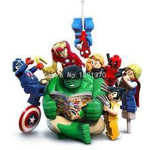 Marvel Super Heroes Los Vengadores Hulk Lepin Building Block Sets Ladrillos Modelo Juguetes de Año Nuevo Para Los Niños XINH 002