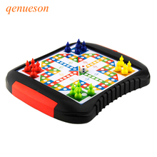 New Quality Drawer style 16pcs Chessmen Board Game Flying Chess Kids Classic Flight Puzzle Set For Friend Children Kid Gift