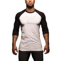 Fashion T Shirt Men Design O Neck T shirt Men's Casual 3/4 Sleeve Tshirt Hot Sale Raglan Jersey Shirt Man Clothes Tops Tee