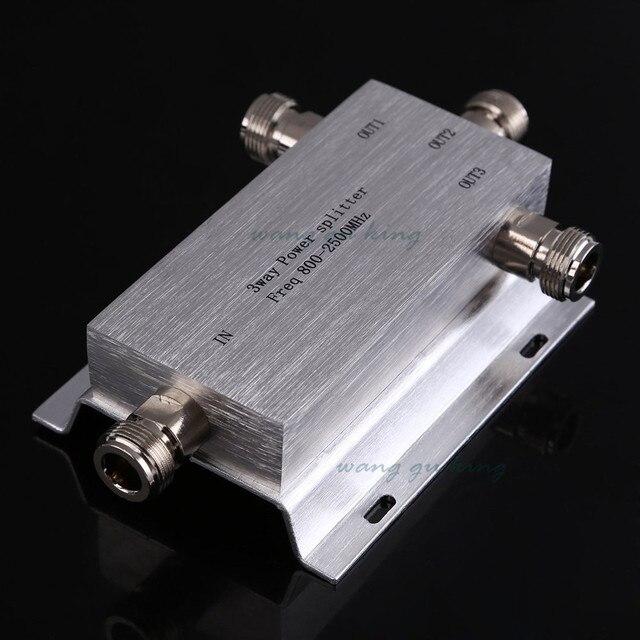 Novo 3 Way N-Tipo Poder Divisor Splitter 800 ~ 2500 MHz para GSM CDMA 3G sinal de reforço repetidor, conectar a antena interna