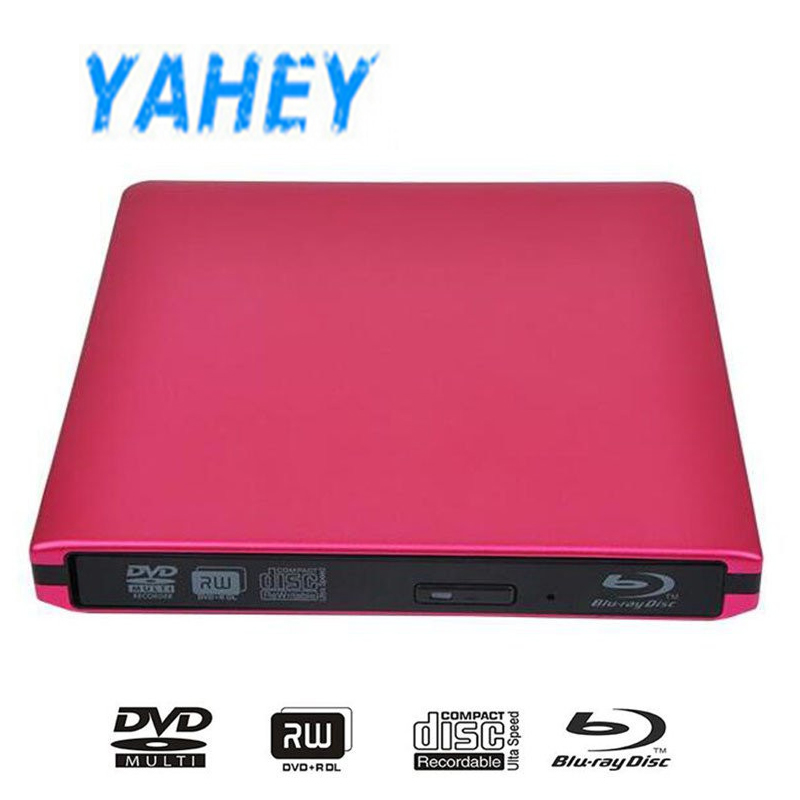 External USB 3.0 Blu-ray Drive 3D Bluray Player External DVD Drive BD-ROM DVD-RW Burner Writer for Apple Macbook Laptop external blu ray drive slim usb 3 0 bluray burner bd re cd dvd rw writer play 3d 4k blu ray disc for laptop notebook netbook