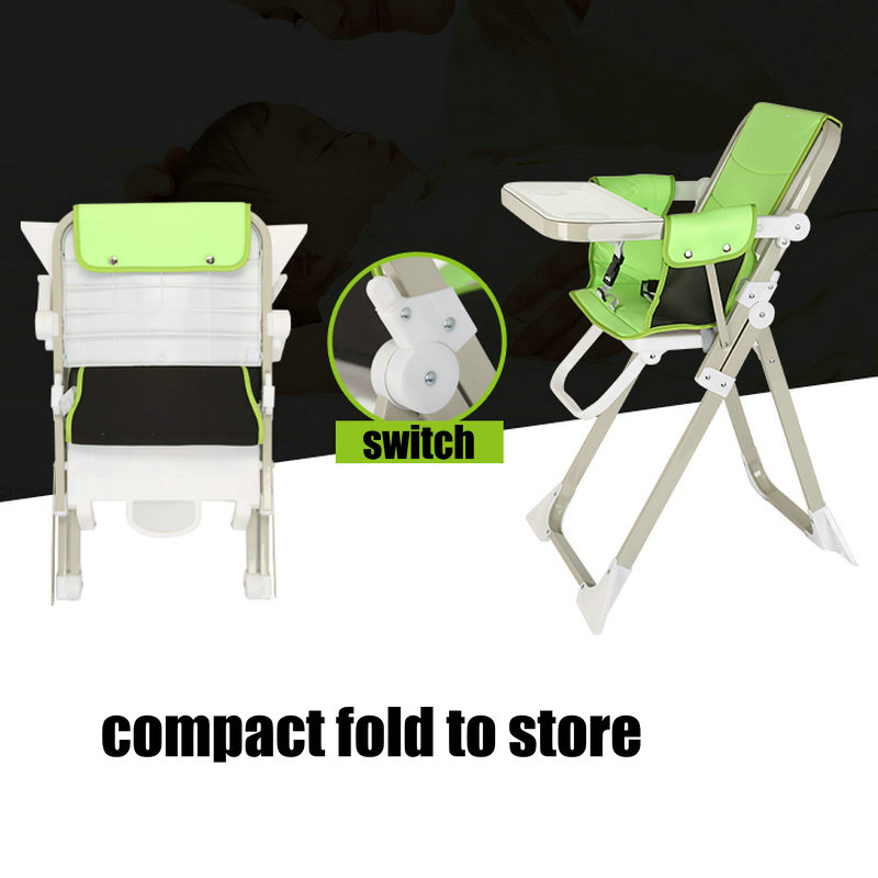 Childrenu0027s Dining Chair, Foldable Baby Fee Chair, Portable Dining Table,  Lightweight 4.9KG Baby Highchair  In Highchairs From Mother U0026 Kids On ...