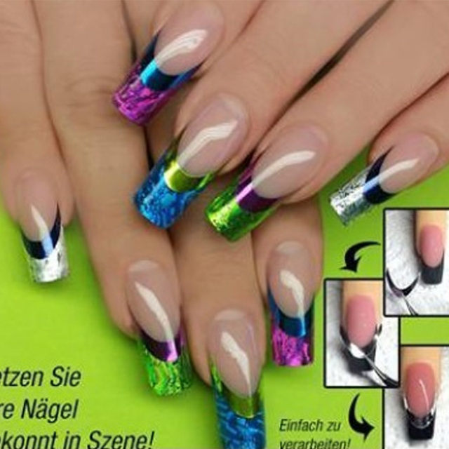 1 sheet New Styles 3D Nail Art Decals French Manicure Water Transfer ...